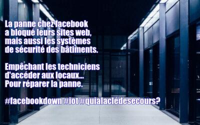 La panne chez facebook a bloqué leurs sites mais aussi les techniciens venus réparer la panne