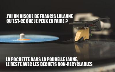 J'ai un disque de Francis Lalanne, qu'est-ce que je peux en faire?
